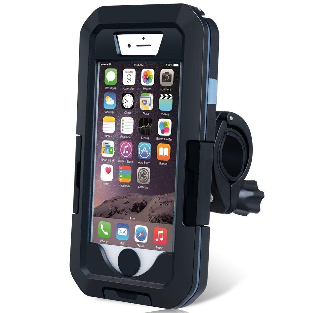 imágenes para Gps case sostenedor de la bici impermeable motocicleta de la bicicleta soporte para teléfono móvil soporte del teléfono soporte para iphone7/7 plus/6/6 s plus/5/5S/se