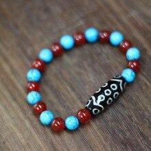 New Fashion Tibet Bracelet 21 eyed Dzi Bead / Stone 30mm*12mm Size for Lady's Bracelet Great Quality Free shipping