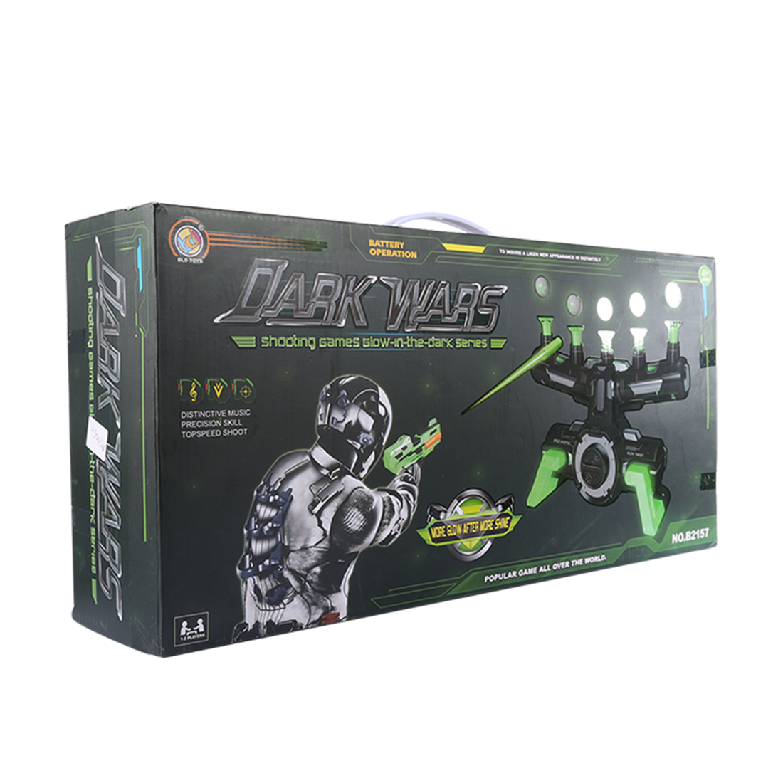 Electrodynamics Suspension Soft Bullet Shooting Toy and Suspension Dart Board Set(Luminous Version) - Black-green