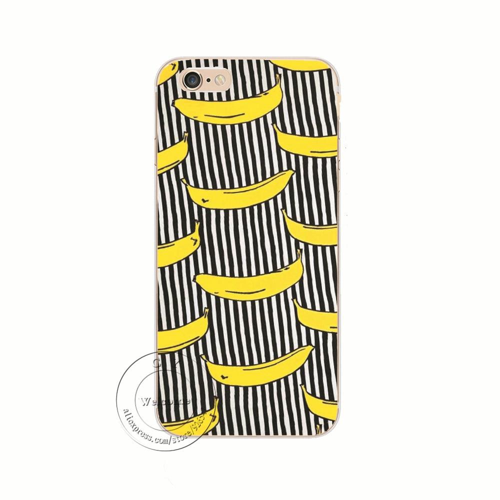 Fruit Banana Fashion Hard Plastic Case Cover För Coque Apple iPhone - Reservdelar och tillbehör för mobiltelefoner - Foto 3