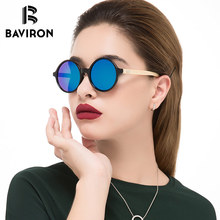 BAVIRON Vintage Bambou Steampunk lunettes de Soleil Femmes Rétro Ronde En  Bois Lunettes de Soleil pour Hommes Femmes avec Livrai. 9ab94352d2e3