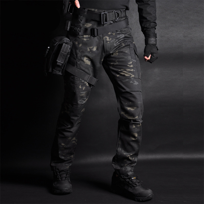 MEGE Tactical Cargo Pants Men Joggers Combat SWAT Army Military Pants Cotton Camo Pockets Stretch Flexible Casual Sweatpants 4XL
