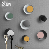 D26cm Northern Europe Simple Modern 300 degree Rotating Led Sconces Wall Lamps Macaron Iron Round Eclipse Wall Lights for home