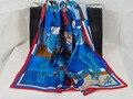 Nueva Llegada! 204014 90x90 cm, 3 Colores 2017 La Más Nueva Manera de Las Mujeres Imprimió la bufanda de seda Cuadrada, envío Gratis