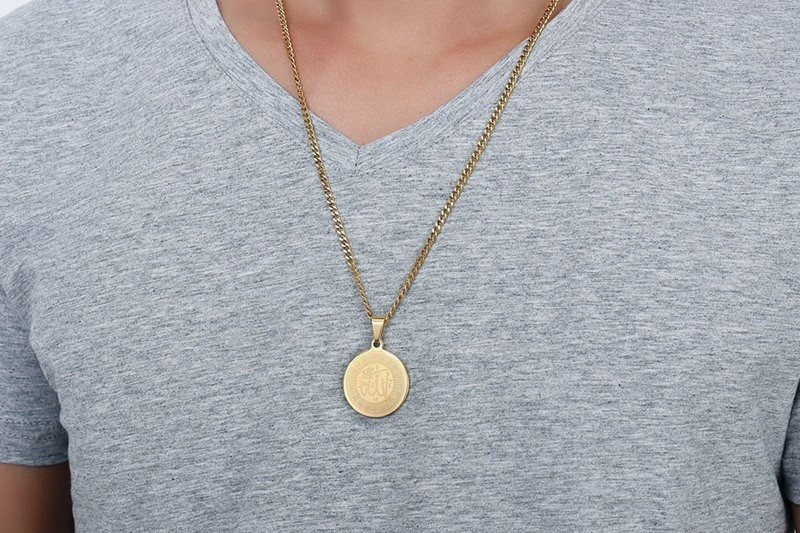 Image 5 - ZORCVENS Islam Muslim Ancient Coins Necklaces Gold Color Arab  Money Sign Chain Middle Eastern Coin ItemsPendant Necklaces   -