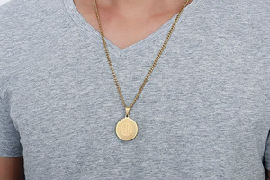 Image 5 - ZORCVENS Ислам Мусульманские древние монеты ожерелья Золотой Цвет Арабский знак денег цепь товары для монет на Ближнем Востоке