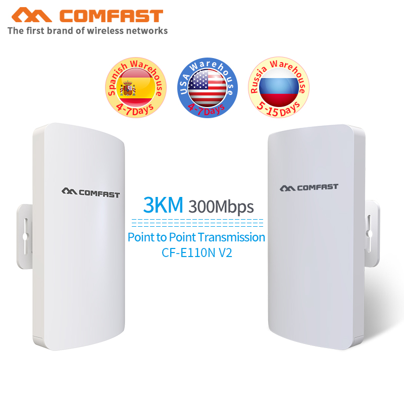 2pcs Mini outdoor wireless cpe built in 11dbi Antenna wi-fi QCA9531 chip wifi router&wifi extender& network bridge wifi repeater