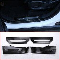 Dla Jaguar f-pace F tempo X761 samochód stylizacji 304 nierdzewne wnętrze próg drzwi próg do drzwi wykończenia czarny szczotkowane 4 sztuk