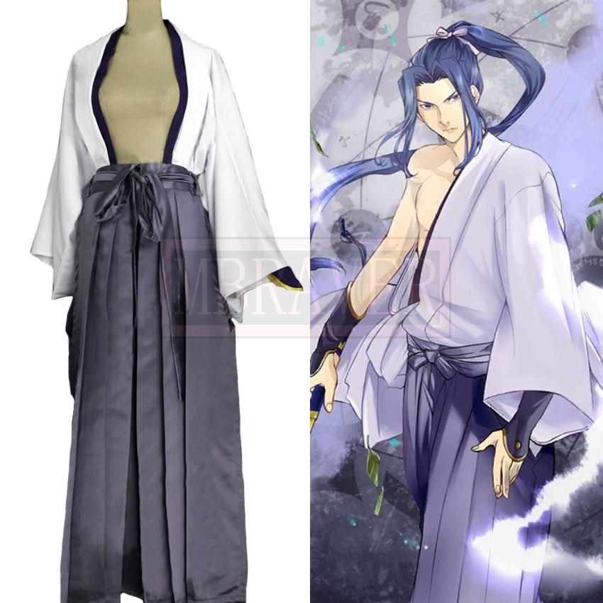Fate/stay night FGO Sasaki Kojiro Assassin Cosplay Costume Halloween Uniform Full Set Customized Any Size