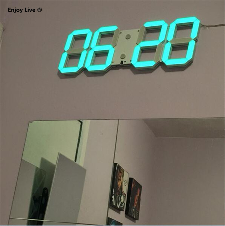 Diy Large Display Remote 3d Led Digital Wall Clock Timer