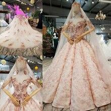 AIJINGYU فساتين زفاف جميلة للبيع فستان ريفي العرض المشاركة جديد الأبيض الكرة ثوب زائد حجم فساتين الزفاف