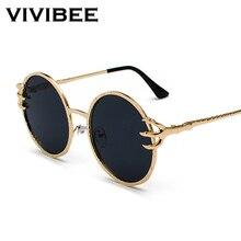 VIVIBEE Skull Claw Round Sunglasses for Women Fishion 2019 T