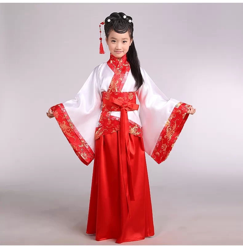 c870725bff4a Hot New Chinese Dance Costumes Children Traditional Chinese Dance Costume  Girls Traditional Ancient Chinese Clothing Hanfu Dress