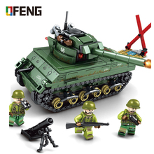 Military Series M4 Sherman Medium Tank model building blocks Empires Army figure bricks Compatible  toys children gift стоимость