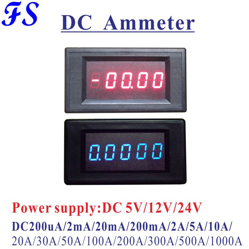 Yb5145a Dc Ammeter Dc 200ua 2ma 20ma 200ma Current Meter Dc 5a 10a 20a 50a 100a 200a 500a 1000a Dc Ampere Meter Led 4.5 Digital Clear-Cut Texture Current Meters Measurement & Analysis Instruments