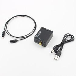 RCA L/R 3.5mm Digital to Analog Audio L/R Converter Fiber Optical Coaxial RCA Signal SPDIF to Analog Audio Decoder DAC Amplifier