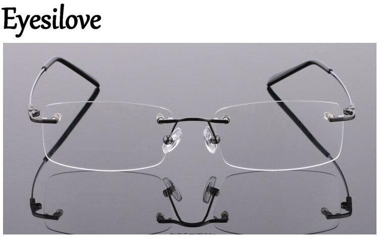 7d59c9a0cf Best buy Eyesilove memory titanium glasses frame Flexible Memory Metal  Rimless Eyeglasses Frame for oculos de grau Glasses Optical Frame online  cheap