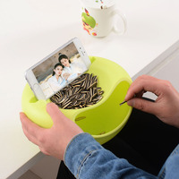 Creative Double Layer Plastic Open Double Layer Candy Snacks Dry Fruit Melon Seeds Holder Storage Box