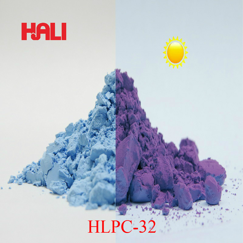 sell two color change photochromic pigment sunlight react pigment powder 1lot 100gram HLPC 32 blue to