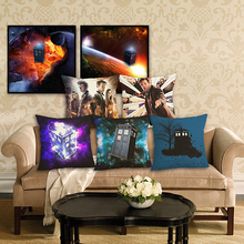 Doctor Who Cushion Cover 45x45cm Cotton Linen House Home Decorative Throw Pillow For Sofa Car
