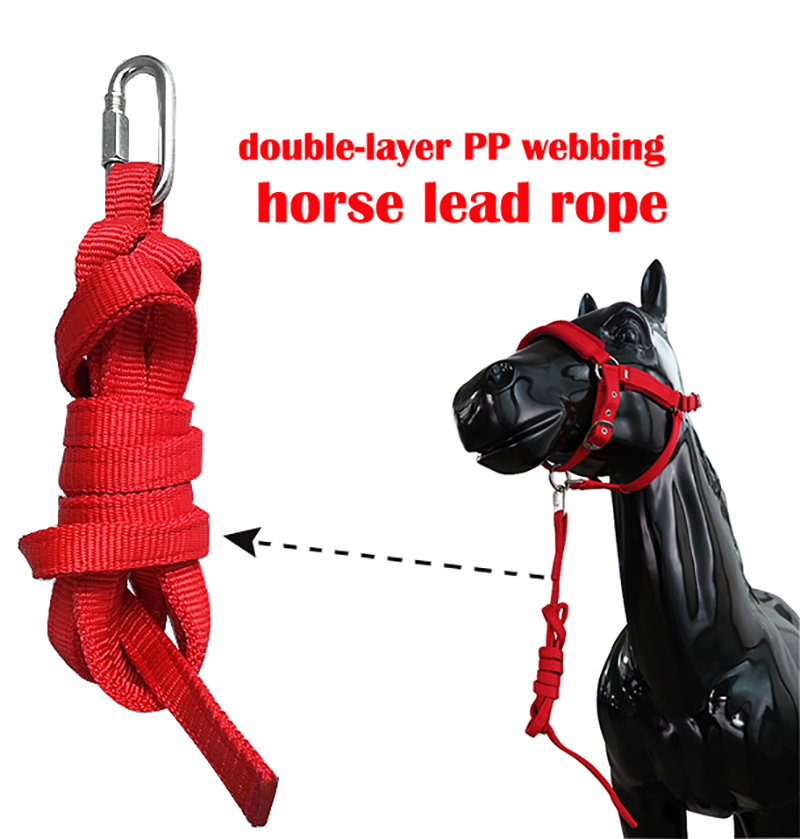 15 Mm Wide Double Layer PP Webbing Horse Lead Rope Large Iron Buckle Horse Bridle  Saddle Pad  Riding  Horse  Horse Supplies S
