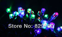 IP44 Waterproof Green/Blue/Red Solar String 17M 100LED Solar Christmas String Light Wedding Party Garden Lights