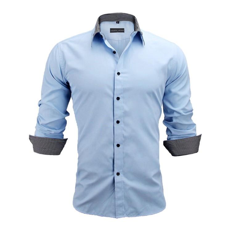 HTB1tYsWKFXXXXb8aXXXq6xXFXXXn - New Arrivals Slim Fit Male Shirt Solid Long Sleeve British Style Cotton Men's Shirt N332