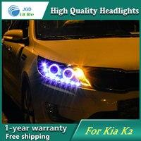 Car Styling Head Lamp Case For Kia Rio K2 2011 2012 2013 2014 Headlights LED Headlight