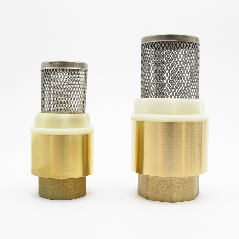 "1/2"" 3/4"" 1"" 1 1/4"" 1 1/2"" 2"" BSP Female Thread Brass Check Valve With Mesh Strainer Filter Bottom Valve Foot Valve For Water
