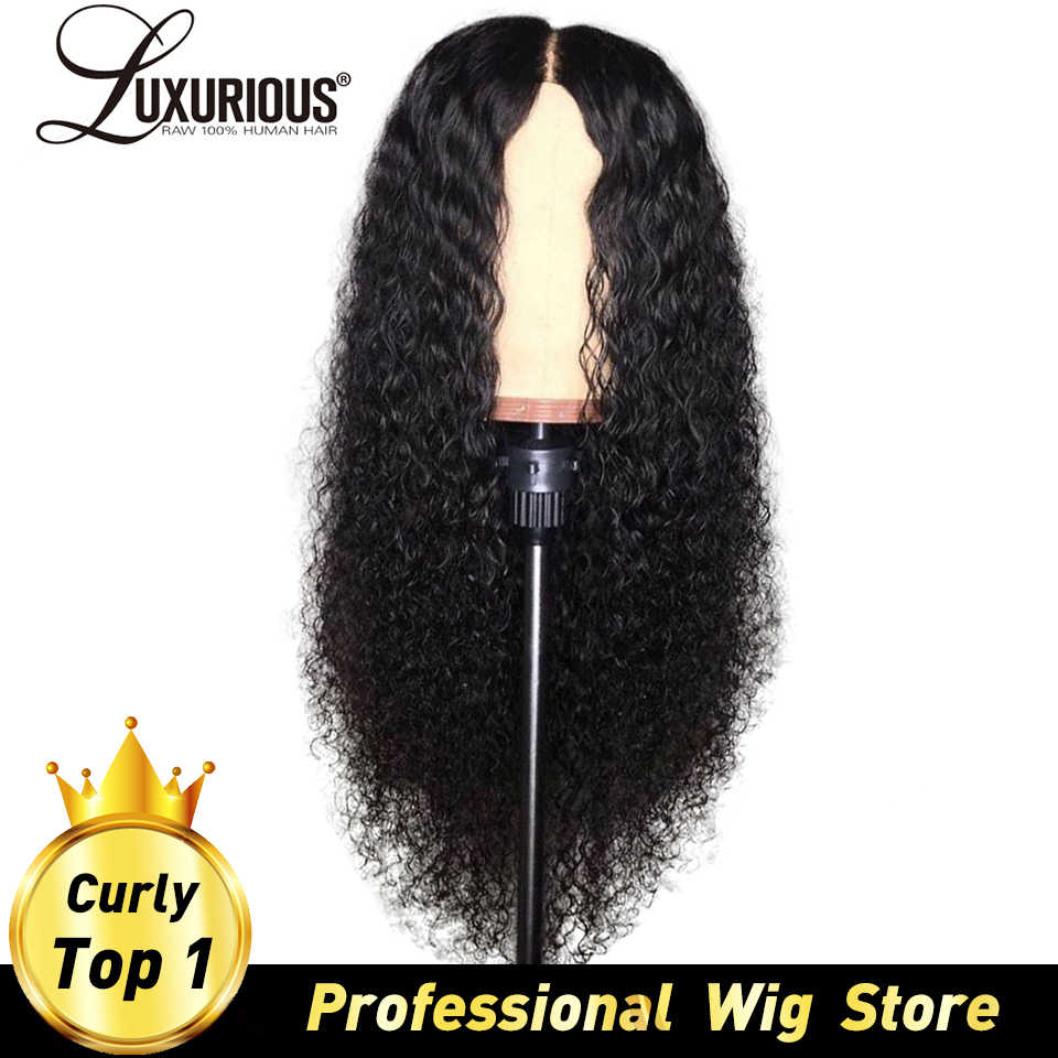 Curly Human Hair Wigs Natural Color Bleached Knots Brazilian Remy Hair Lace Front Human Hair Wigs With Baby Hair Pre-Plucked Wig