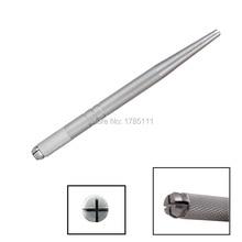 1 stk Ny 2015 High Quality Professional Manual Aluminiumslegering sølv 3D Broderi permanent sminke Øyenbrynspenning Hot