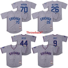 38f4c9a59 Throwback Jersey Men's Chicago Baseball Jersey 70 Joe Maddon 26 Billy  Williams 44 Anthony Rizzo 9