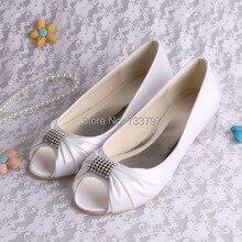 ( 20 цветов ) свадебные туфли с открытым носком туфли женские белый свадебная обувь на плоской пятки
