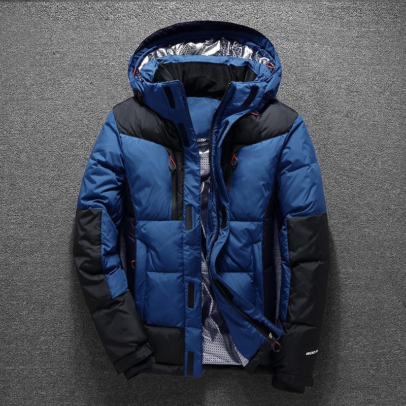 Winter Men   Down   Jacket Boys   Down     Coat   Casual Hooded   Coat   Male Clothing Green Blue Black Orange