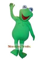 Big Sale!!Professional Kermit Frog Mascot Costume Fancy Dress Adult Size Free Shipping
