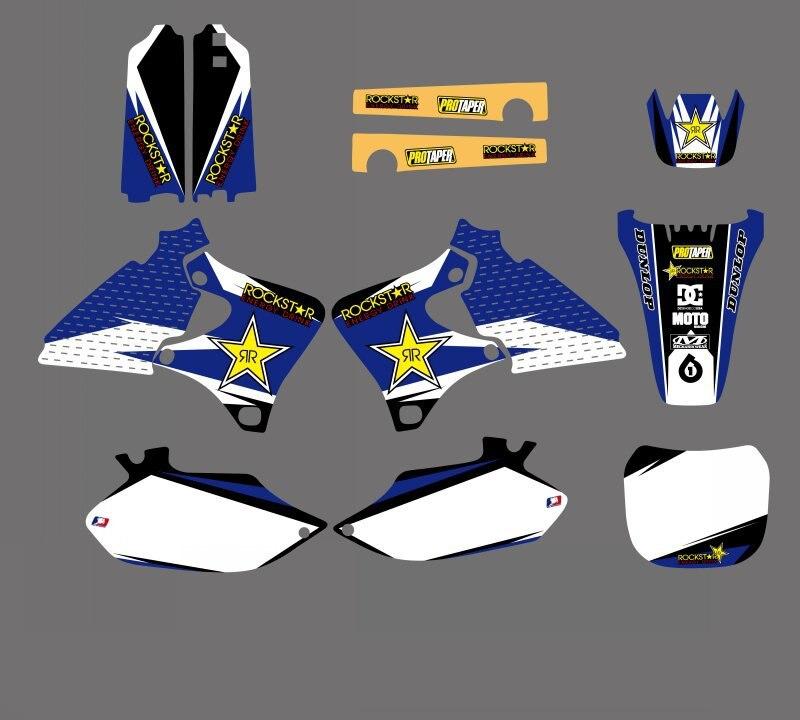 Motorcycle Rockstar Graphics Decals Stickers For Yamaha YZ250F YZ400F YZ426F YZF250 YZF400 YZF426 1999 2002 YZF