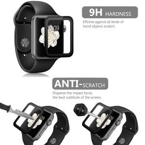 Image 3 - 10 PCS 3D Gebogen Volledige Dekking Gehard Glas Voor Apple Horloge Serie 1/2/3 42mm Screen protector iWatch Beschermende Film