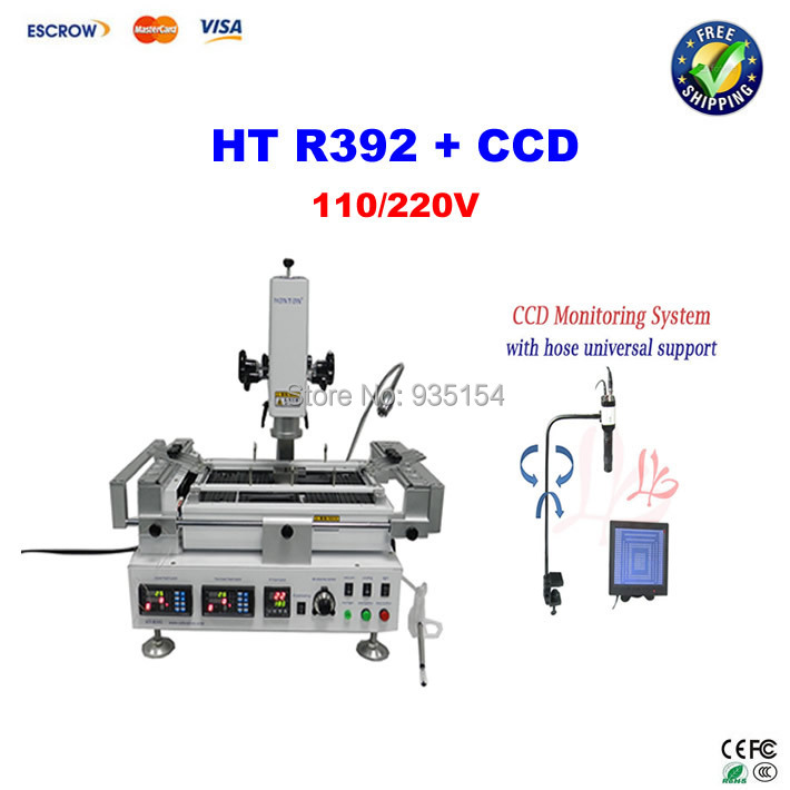 Best price BGA rework station HONTON HT-R392, with CCD camera system with 8'' monitor  цены