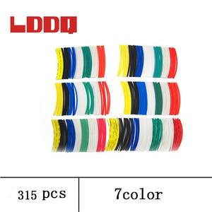 LDDQ 315pcs Heat shrink tubing 2:1 Heat Shrink Tube Wrap Heat sleeve 1mm 1.5mm 2mm 2.5mm 3mm insulation Cable Sleeve