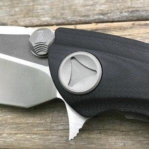 LDT КИТ Акула складной нож D2 лезвие Титан G10 Ручка Флиппер Кемпинг уличный карманный нож для выживания Охотничьи Ножи EDC инструмент