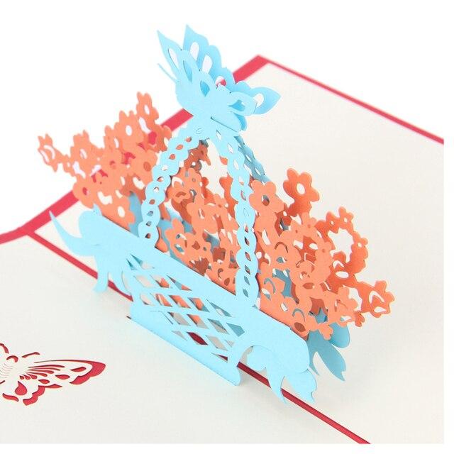 Vintage 3d Pop Up Wycinanych Laserowo Kwiat Projekt Urodziny
