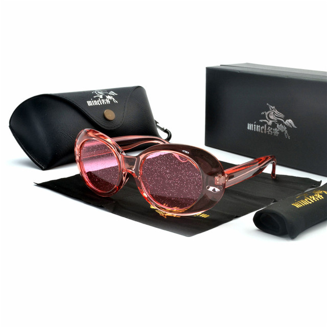 Sexy Cor Doce Mulheres Oval Óculos De Sol Dos Homens Brilhante Designer  Rodada Óculos de Sol a0cc168b04