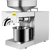 220V/110V Heat and Cold home oil press machine pinenut,olive oil press machine high oil extraction rate