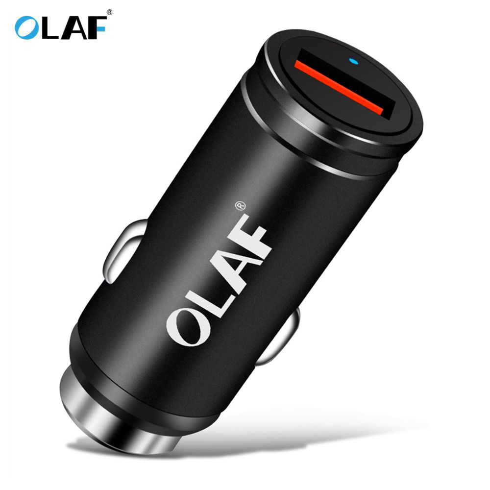 OLAF USB Quick Charger QC 3.0 Car Charger For iPhone X 8 7 Samsung Galaxy S9 Mini Car-Charger Cell Phone Travel Adapter Chargers