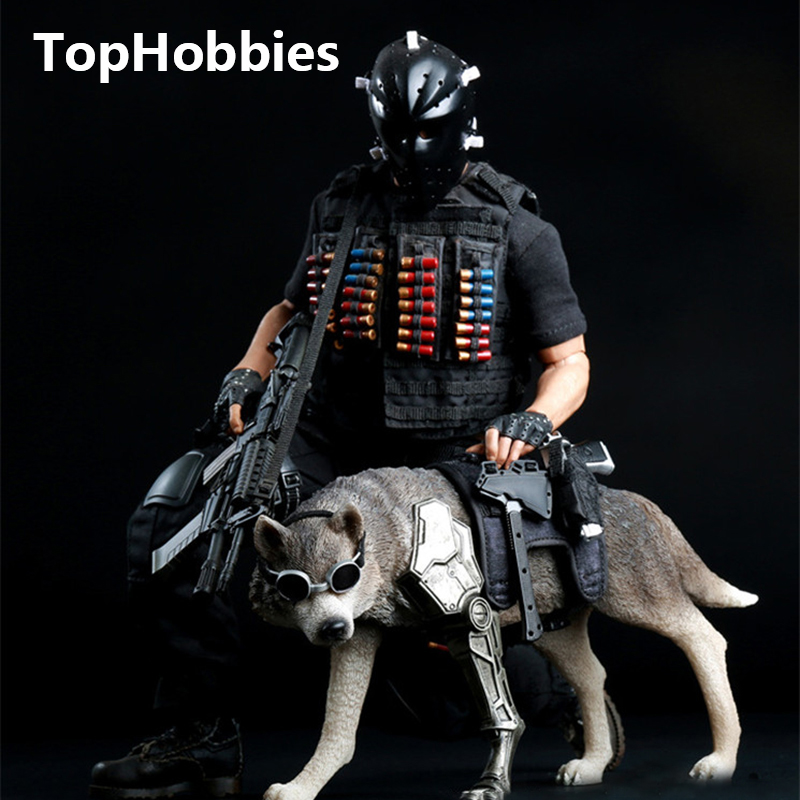 2 Colors AS TOYS Wolf of war Wolf AS001 Black Brown 1 6 Scale Animal Model
