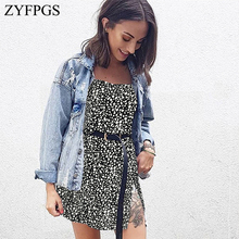 ZYFPGS 2019 New Ladies Long Dress Spot Womans Casual Sexy Fashion Slim Leopard print Personality Sales Hot Simple Z1231