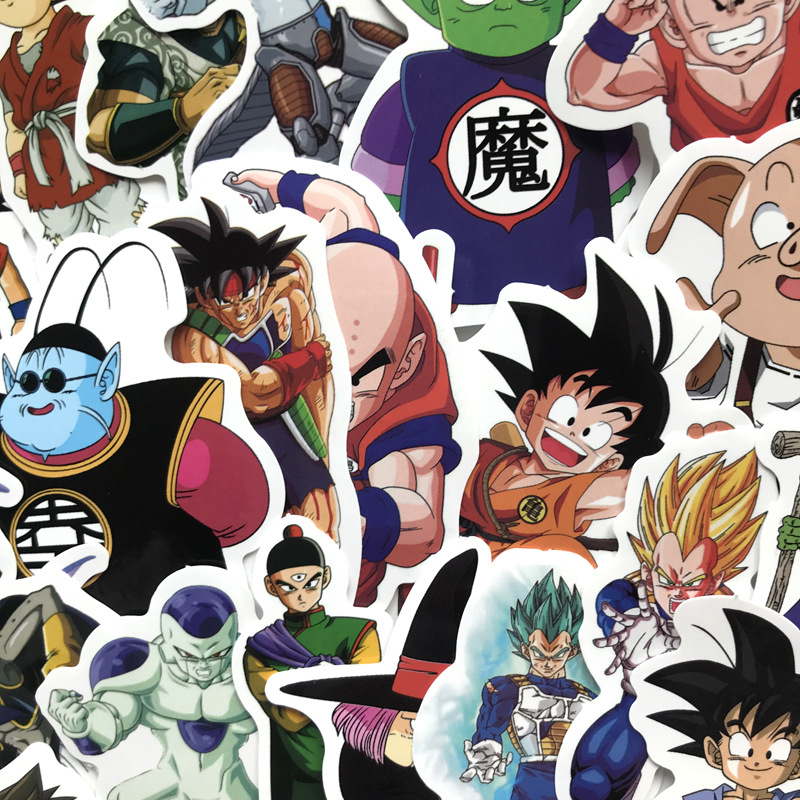 Image 2 - 100Pcs/lot Anime Dragon Ball Stickers Super Saiyan Goku Stickers Decal for Snowboard Luggage Car Fridge Laptop Moto DIY Sticker-in Car Stickers from Automobiles & Motorcycles