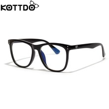 9c3f5b83d2 KOTTDO glasses women men anti-blue light mirror male black frame art glasses  female eyewear