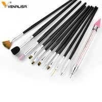 Venalisa factory Supply Professional Nail Art Learner Start Decoration Sticky Pen Diamond Stick Pen Nail Art Design Brush Kit