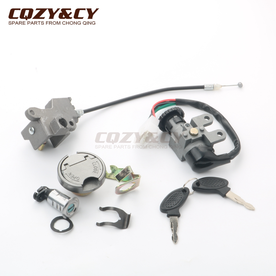Scooter Ignition Lock & Key Set For Peugeot Django 50 V-Clic 50cc 4-stroke